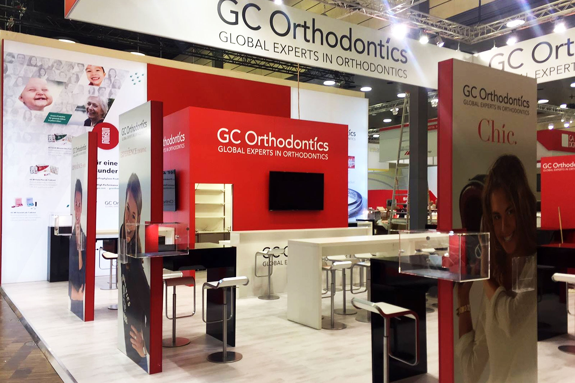 Messestand GC Orthodontics - DGKFO 2017 - Messebau CCKöln
