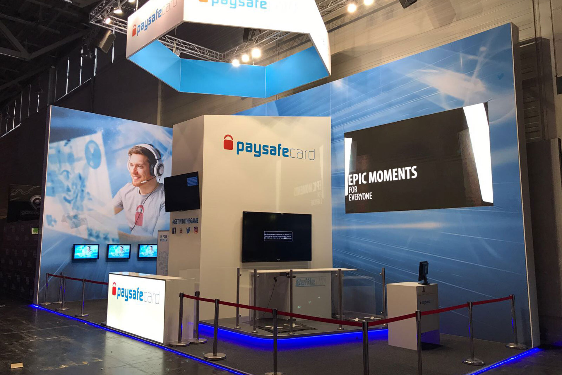 Messestand Paysafecard - gamescom 2017 - Messebau CCKoeln