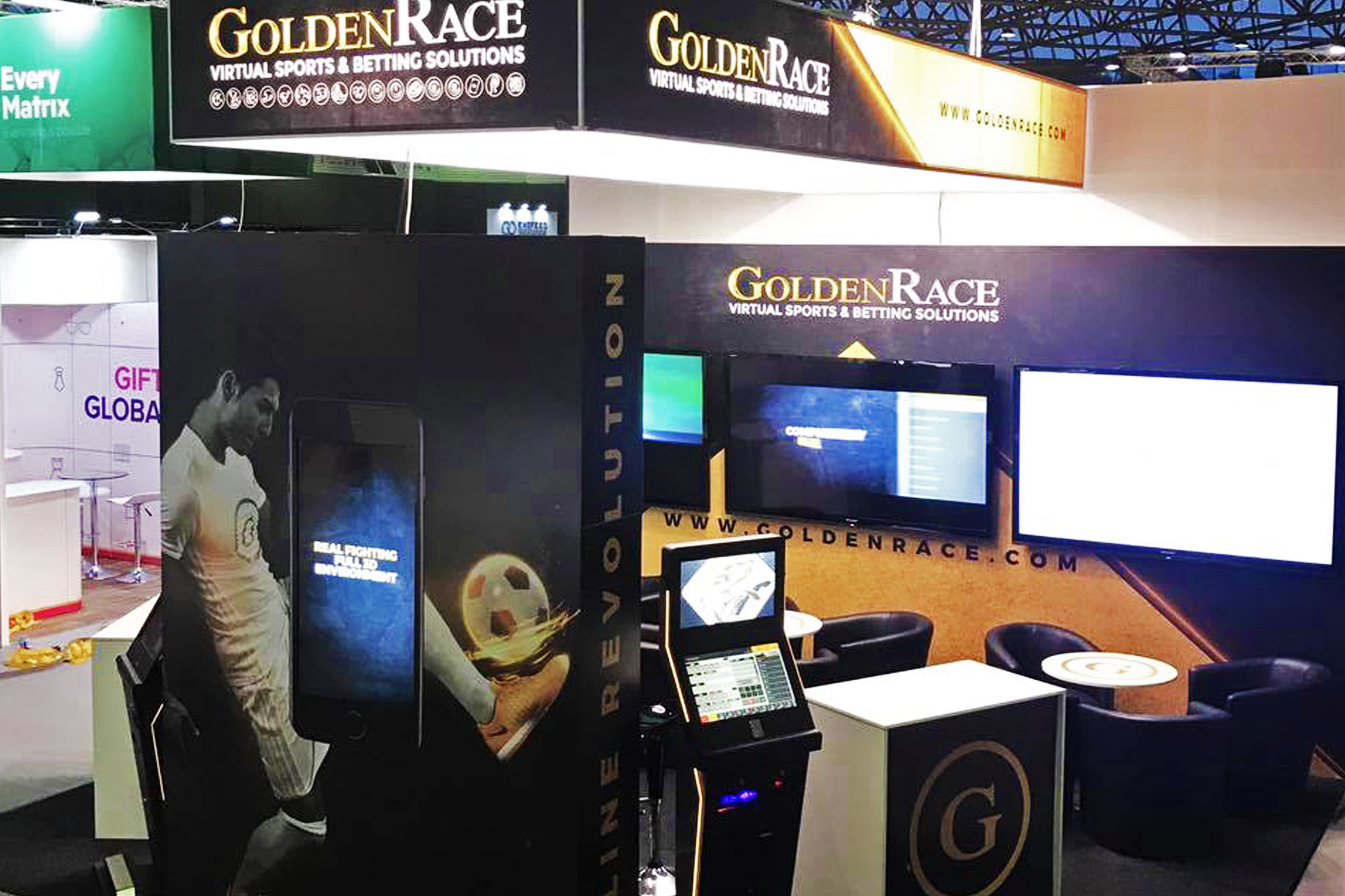 Messestand Golden Race - Gaming Super Show 2017